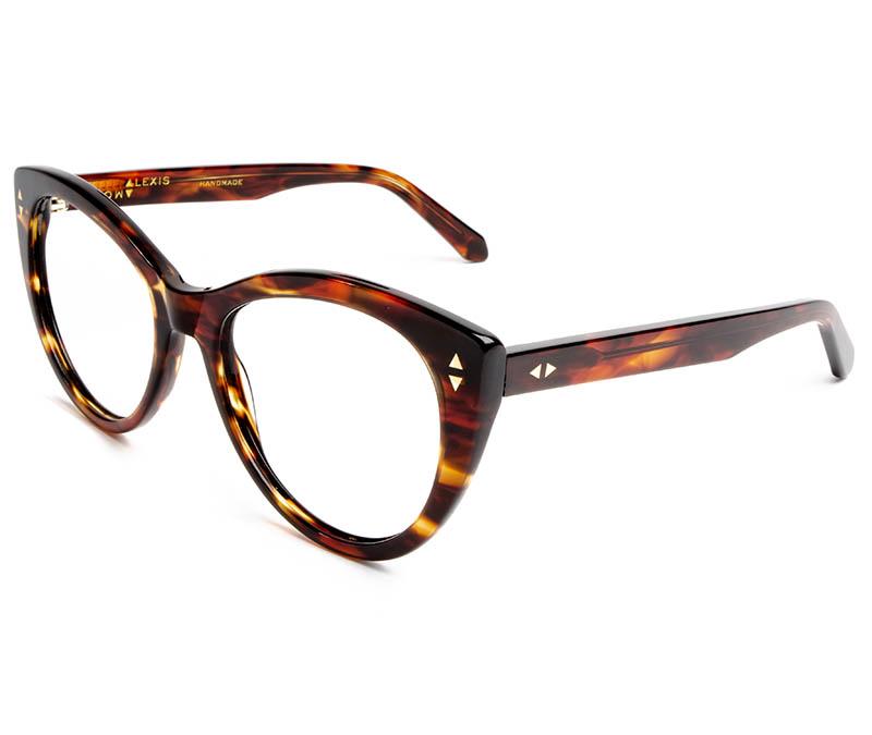 Alexis Amor Ava SALE frames in Caramel Havana Stripe