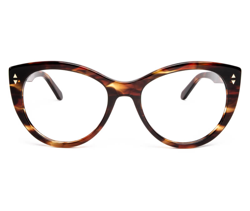 Alexis Amor Ava frames in Caramel Havana Stripe