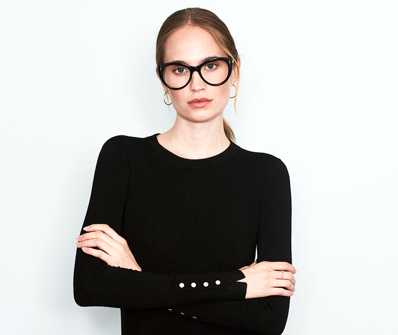 Alexis Amor Ava frames in Gloss Piano Black