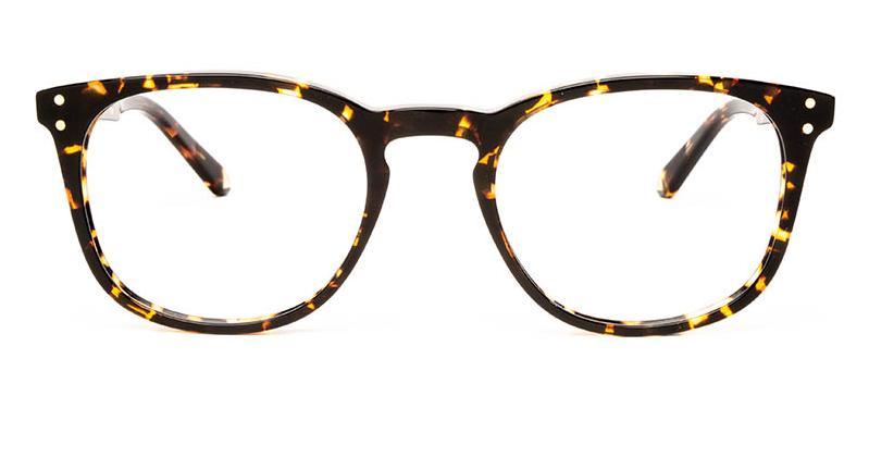 Alexis Amor Baxter frames in Gloss Black Amber Fleck