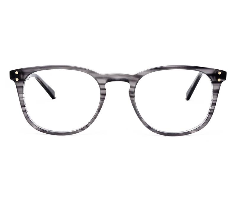 Alexis Amor Baxter frames in Matte Grey Stripe