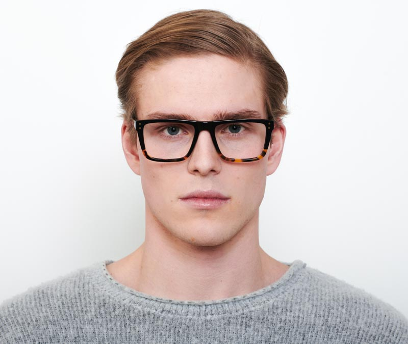 Alexis Amor Beckett frames in Gloss Black + Havana