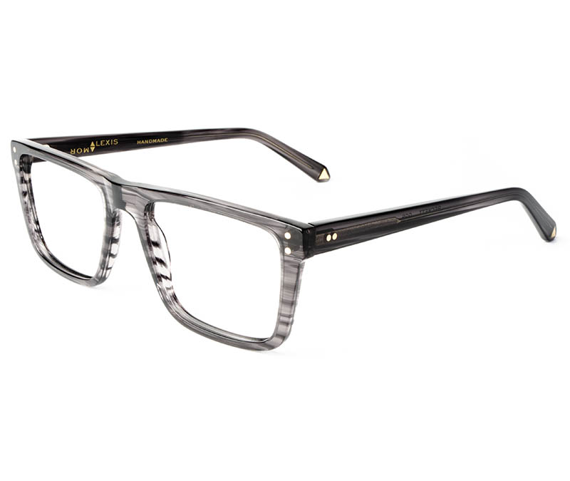 Alexis Amor Beckett frames in Gloss Grey Stripe