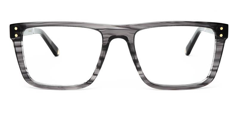 Alexis Amor Beckett frames in Gloss Grey Stripe