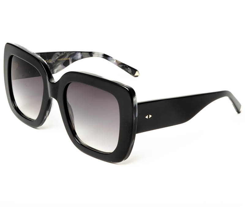 Alexis Amor Bibi sunglasses in Gloss Piano Black Marble