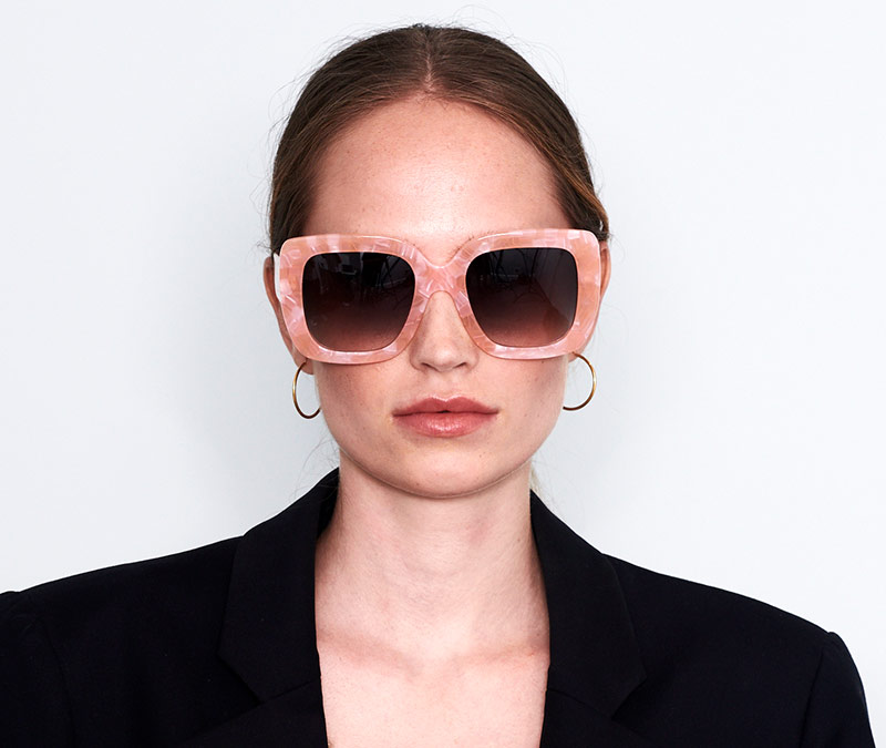 Alexis Amor Bibi sunglasses in Hot Pink Marble