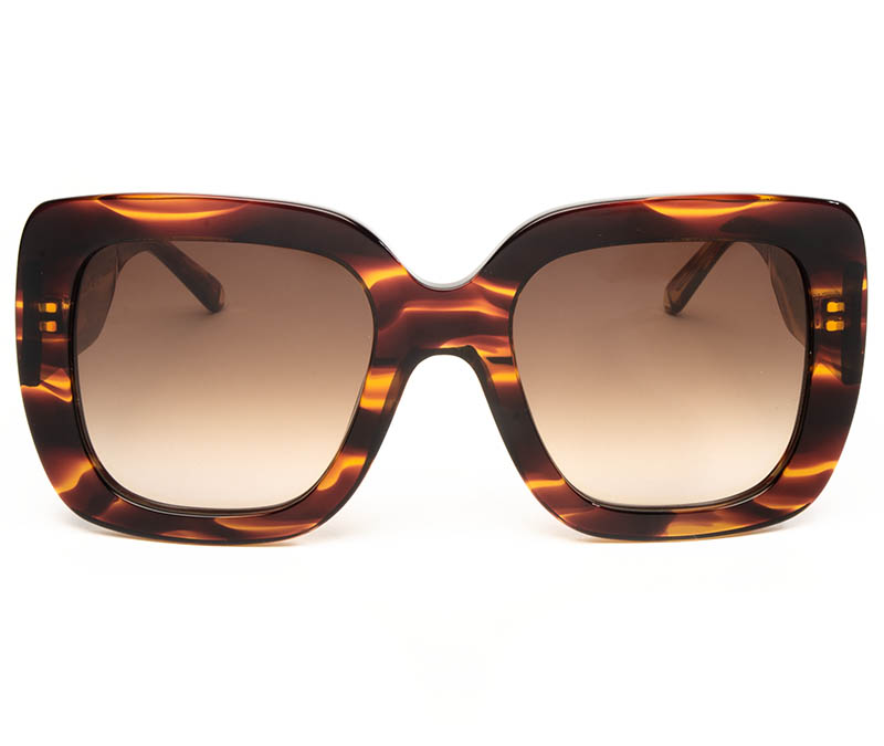 Alexis Amor Bibi sunglasses in Smooth Caramel Stripe