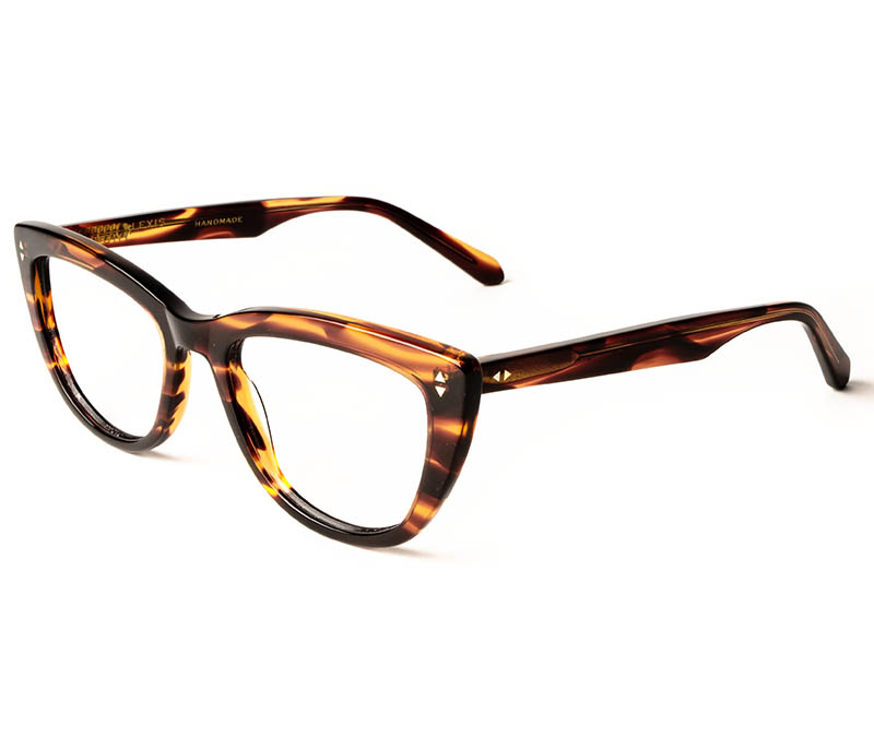 Alexis Amor Birdie frames in Smooth Caramel Stripe