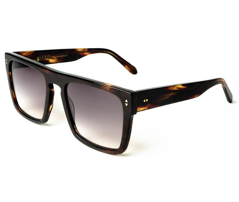 Alexis Amor Blake sunglasses in Caramel Havana Stripe