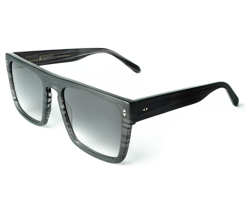 Alexis Amor Blake sunglasses in Matte Grey Stripe