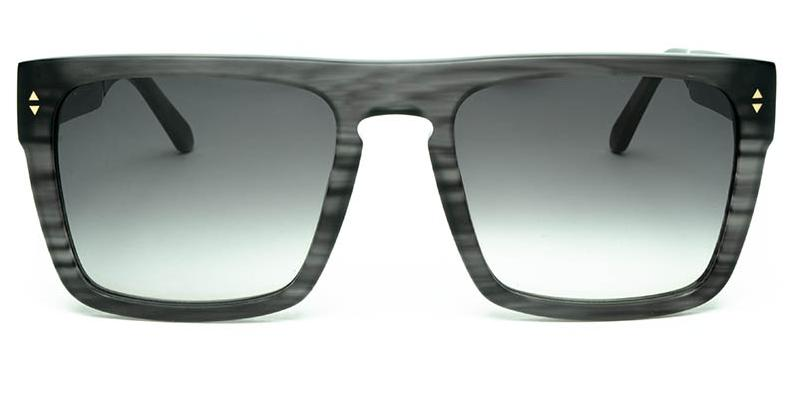 Alexis Amor Blake sunglasses in Matte Grey Stripe