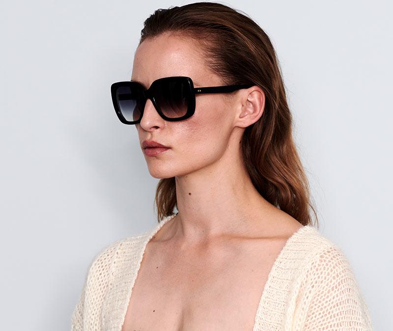 Alexis Amor Coco sunglasses in Gloss Piano Black