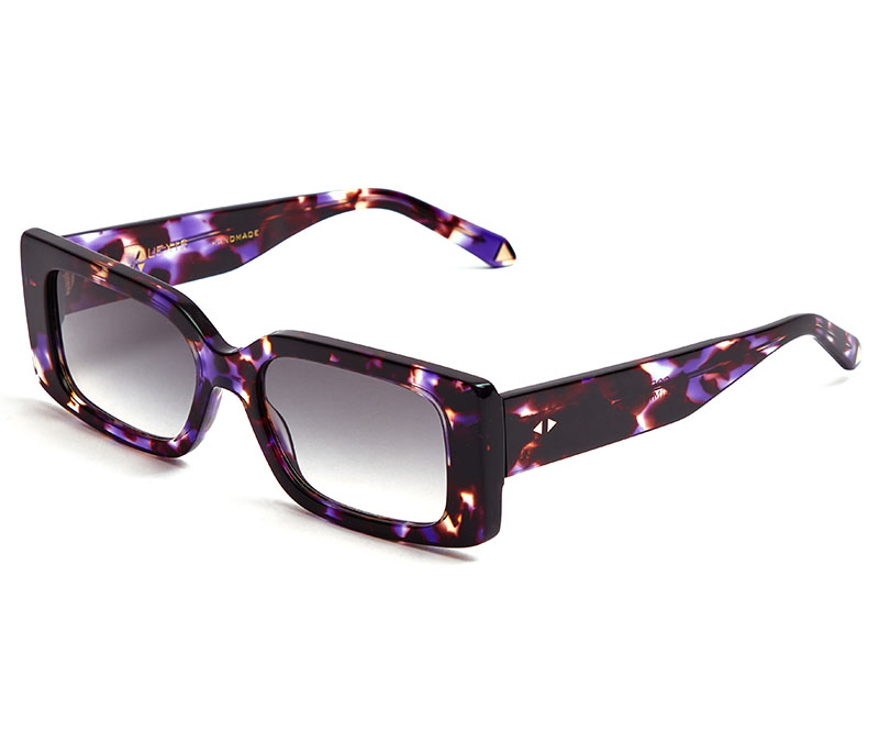 Alexis Amor Cora sunglasses in Limited Edition Purple Peacock Marble