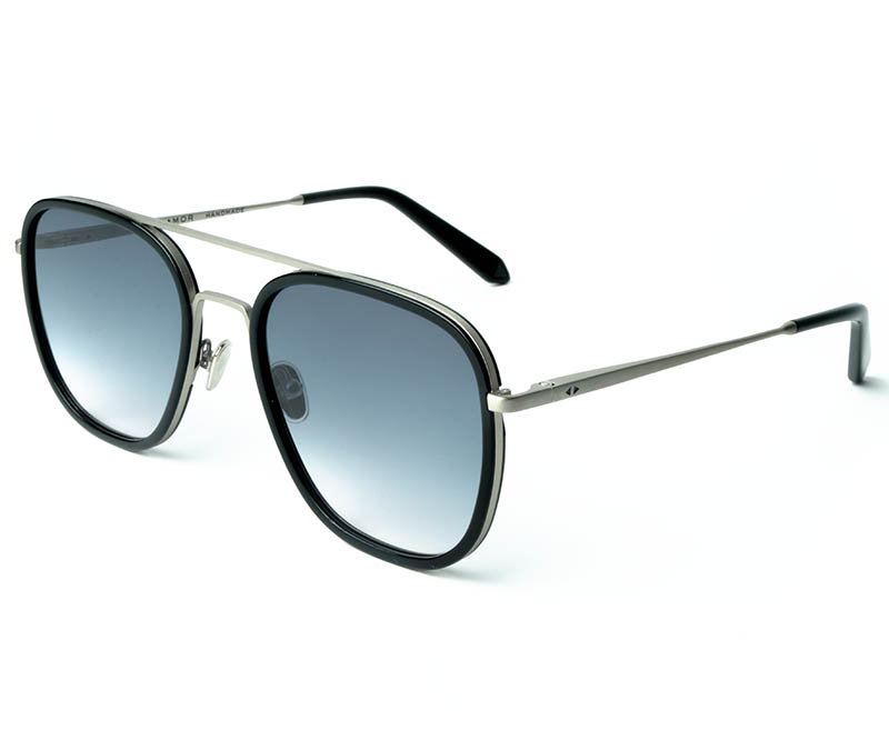 Alexis Amor Dallas sunglasses in Matte Silver Gloss Black