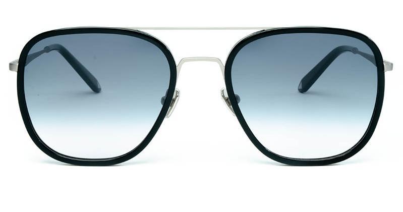 Alexis Amor Dallas sunglasses in Matte Silver Gloss Black