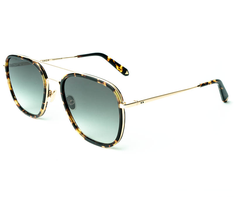 Alexis Amor Dallas sunglasses in Mirror Gold Amber Fleck