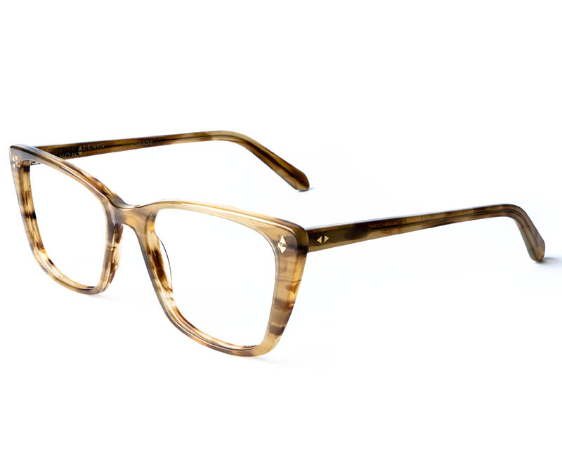 Alexis Amor Dana frames in Shiny Brown Stripe