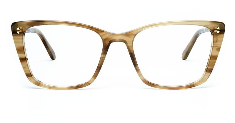 Alexis Amor Dana frames in Shiny Brown Stripe