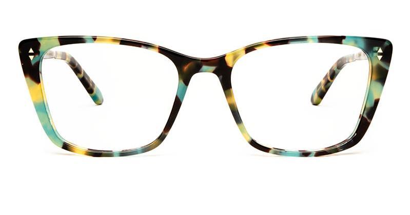 Alexis Amor Dana frames in Turquoise Tortoise