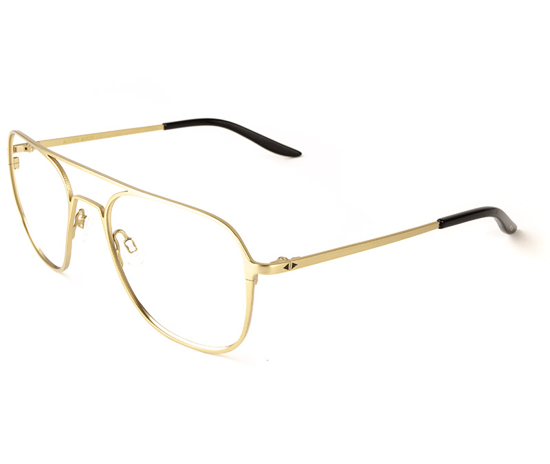 Alexis Amor Dax frames in Matte Gold