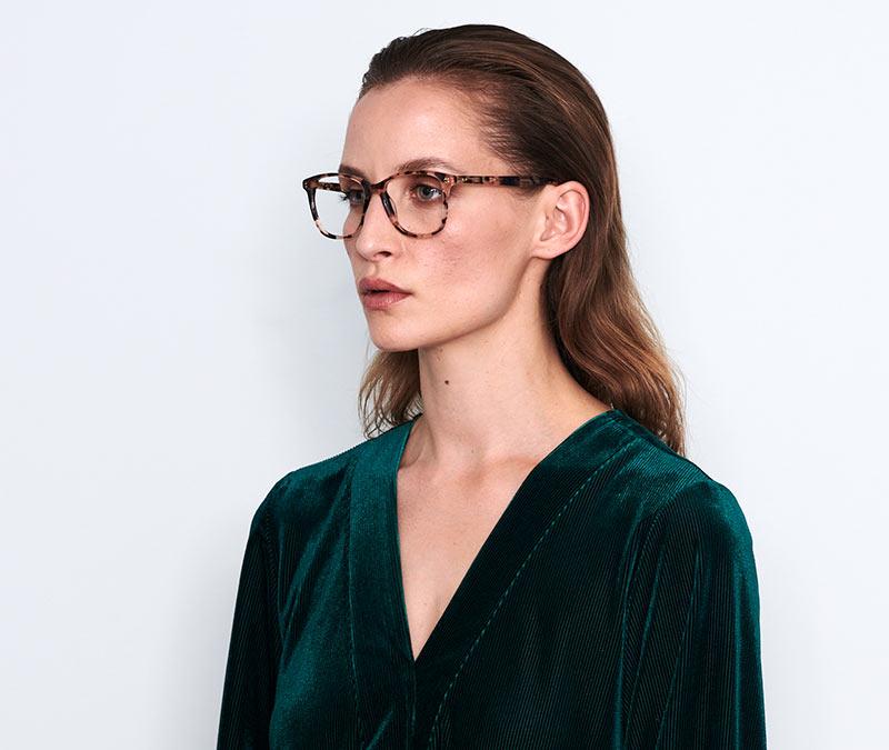 Alexis Amor Gigi frames in Gloss Piano Black Marble