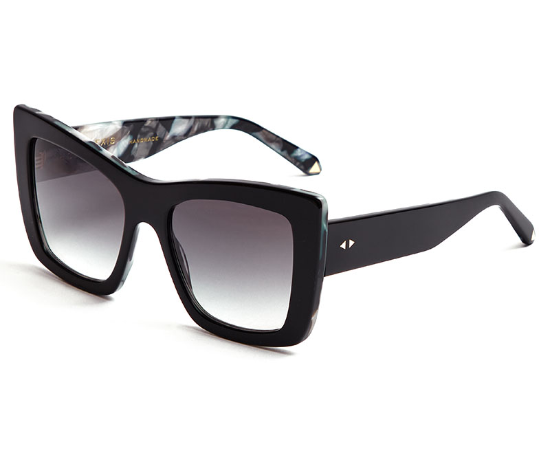 Alexis Amor Grace sunglasses in Gloss Piano Black + Marble