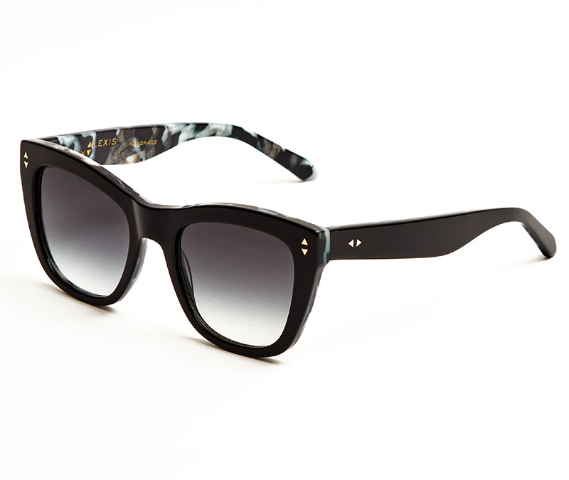 Alexis Amor Holly sunglasses in Gloss Piano Black + Marble