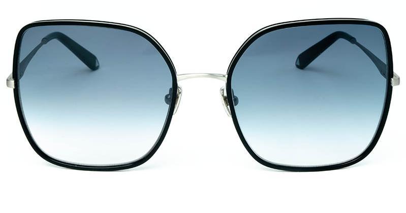 Alexis Amor India sunglasses in Matte Silver Gloss Black