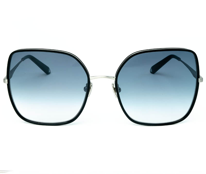 Alexis Amor India sunglasses in Matte Silver Gloss Black