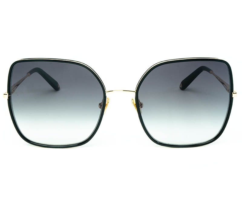 Alexis Amor India sunglasses in Mirror Gold Gloss Black