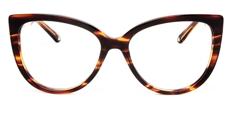Alexis Amor Inez frames in Smooth Caramel Stripe Gloss Silver