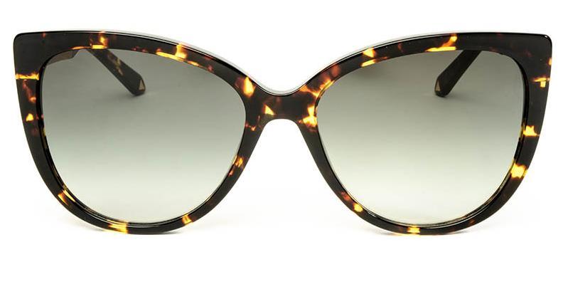 Alexis Amor Inez sunglasses in Gloss Black Amber Fleck Matte Gold