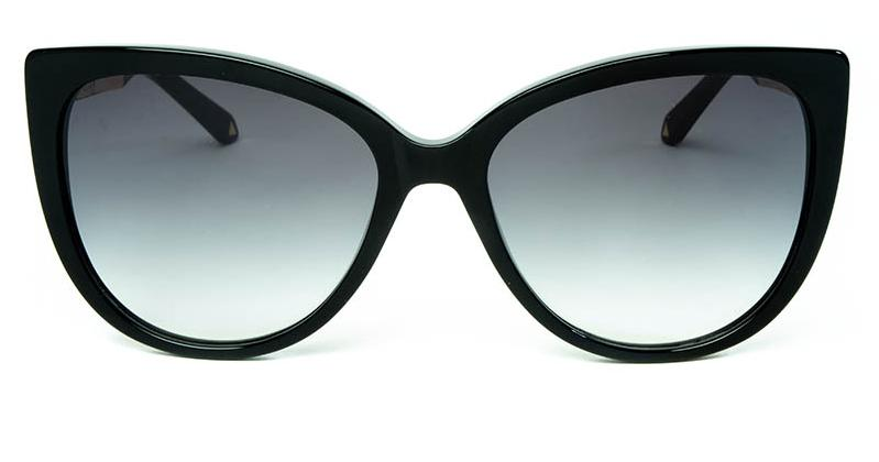 Alexis Amor Inez sunglasses in Gloss Piano Black Mirror Gold