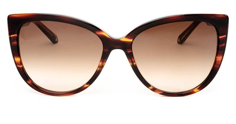 Alexis Amor Inez sunglasses in Smooth Caramel Stripe Gloss Silver