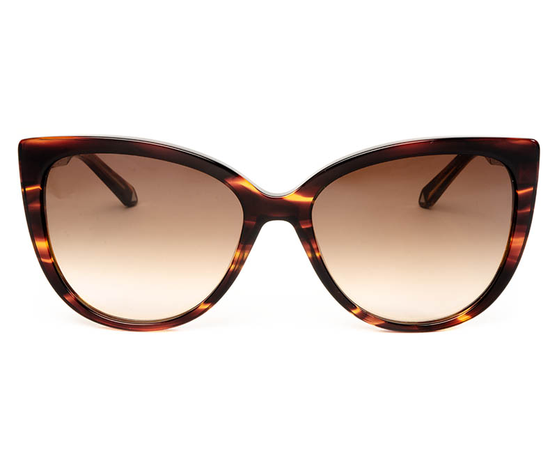 Alexis Amor Inez sunglasses in Smooth Caramel Stripe Gloss Silver