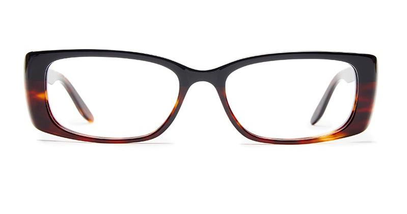 Alexis Amor Iris frames in Gloss Piano Black Chestnut