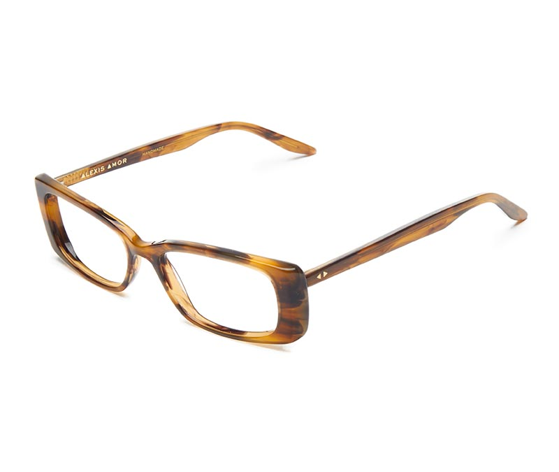 Alexis Amor Iris SALE frames in Brown Mid Stripe