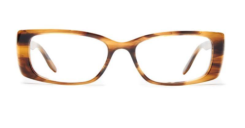 Alexis Amor Iris frames in Brown Mid Stripe