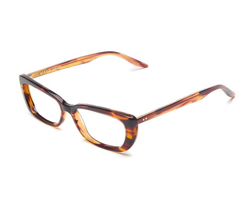 Alexis Amor Ivy SALE frames in Smooth Caramel Stripe