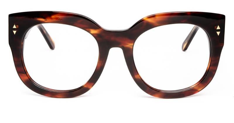 Alexis Amor Jojo frames in Caramel Havana Stripe