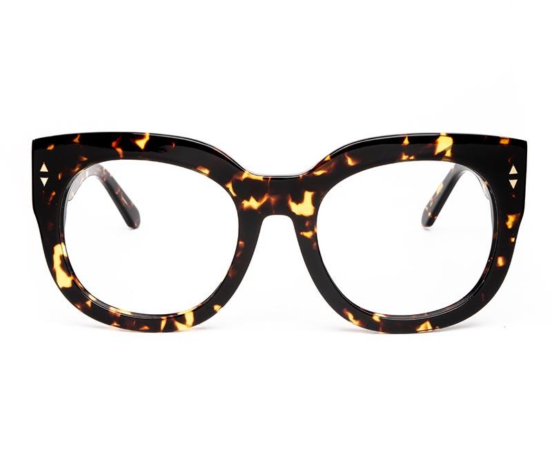 Alexis Amor Jojo frames in Gloss Black Amber Fleck