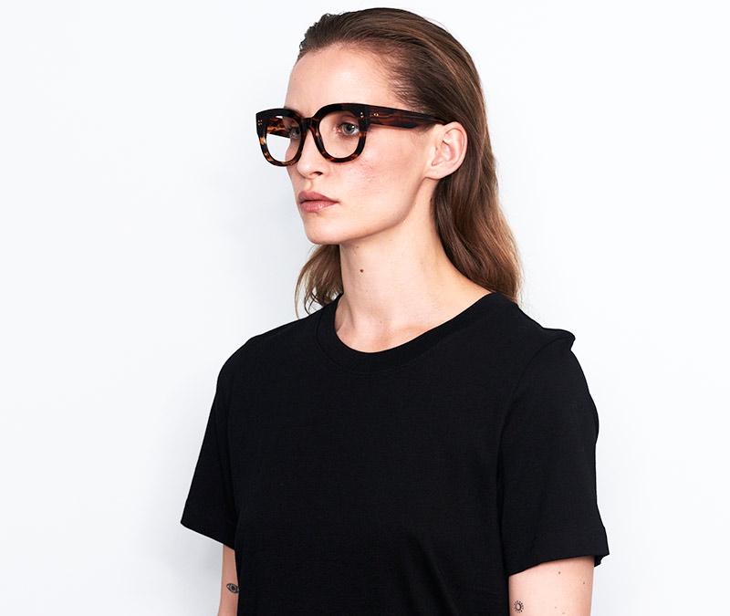 Alexis Amor Jojo frames in Smooth Caramel Stripe