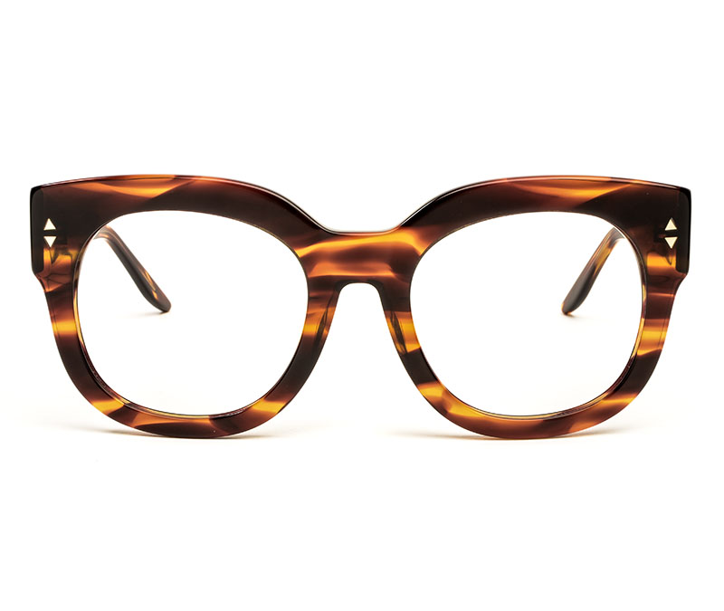 Alexis Amor Jojo frames in Smooth Caramel Stripe