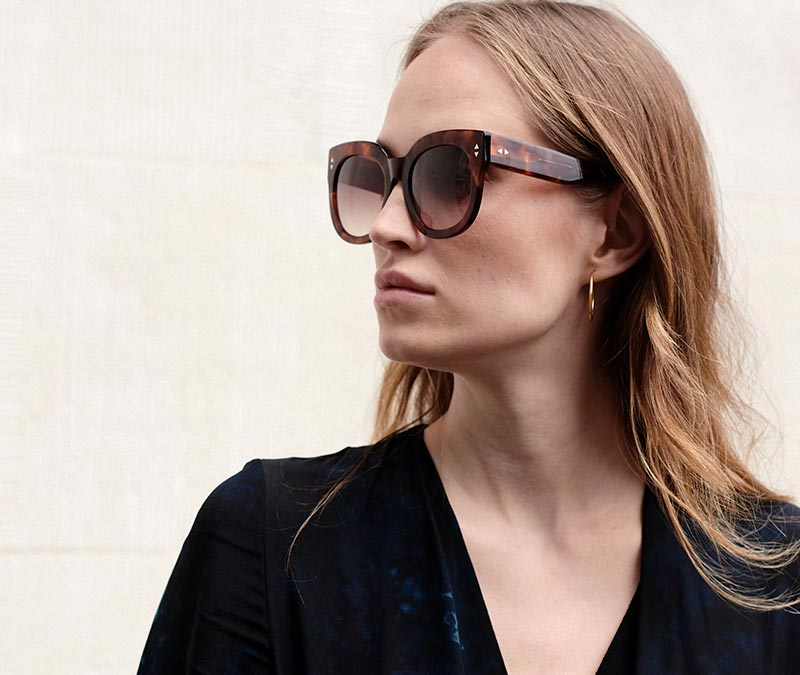 Alexis Amor Jojo X sunglasses in Amber Fleck
