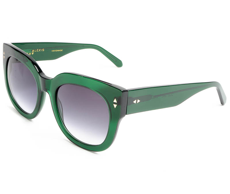 Alexis Amor Jojo sunglasses in Deepest Dark Emerald
