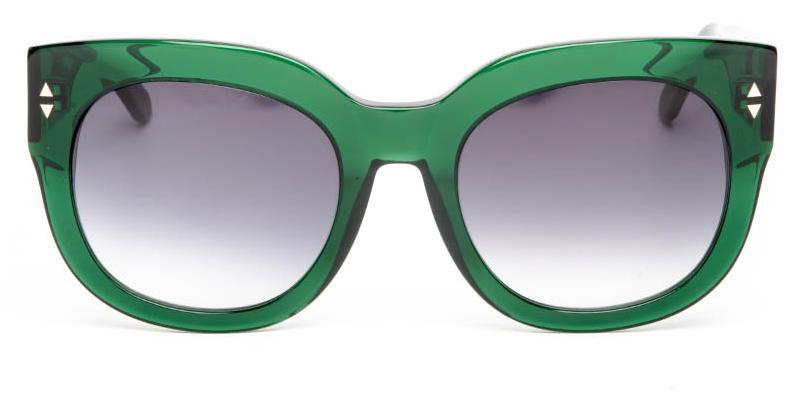 Alexis Amor Jojo sunglasses in Deepest Dark Emerald