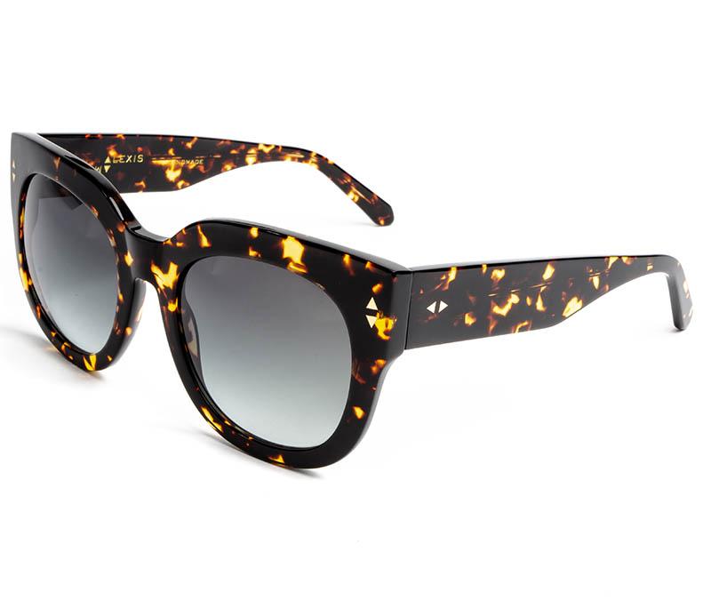 Alexis Amor Jojo sunglasses in Gloss Black Amber Fleck