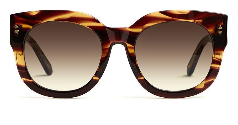 Alexis Amor Jojo sunglasses in Smooth Caramel Stripe
