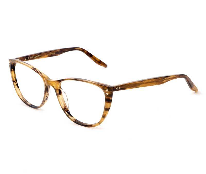 Alexis Amor Lola frames in Brown Mid Stripe