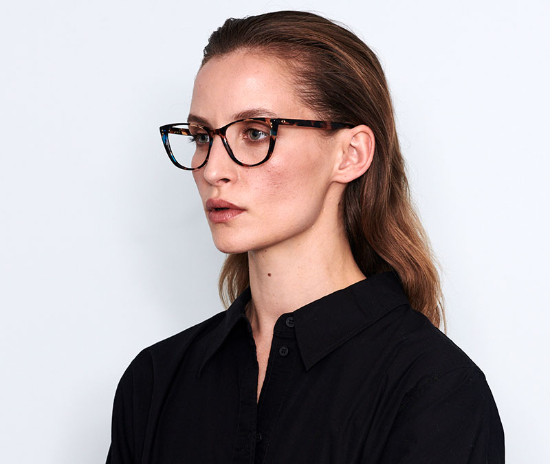 Alexis Amor Lola frames in Brown Mid Stripe